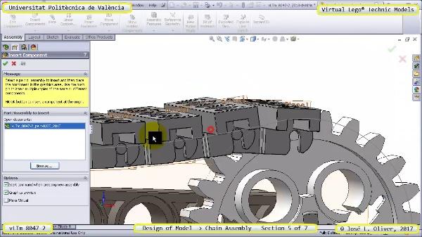 Creación Virtual Lego Technic 8047-2 ¿ Montaje de una Cadena ¿ 5 de 7