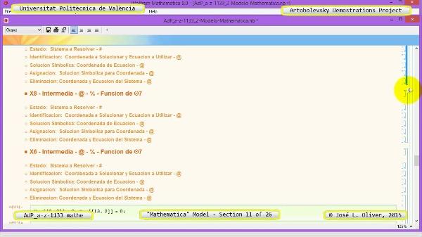 Solución Cinemática Simbólica a-z-1133 con Mathematica - 11 de 26