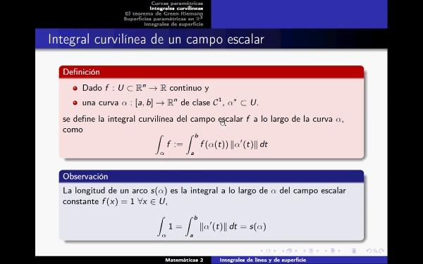 Definición integral de Línea. Teorema Green-Riemann