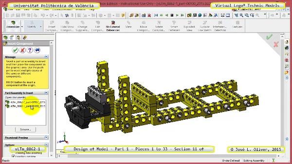 Creación Virtual Modelo Lego Technic 8862-1 ¿ Pieza 1 ¿ 11 de 44