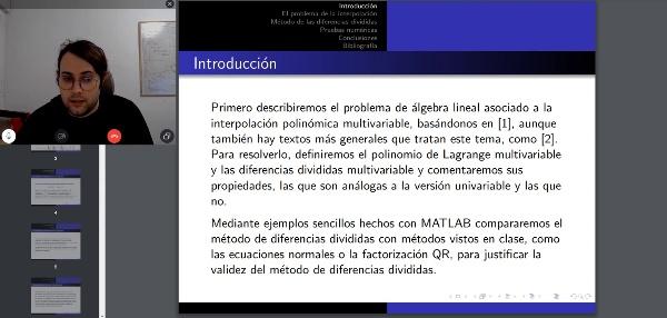 El álgebra lineal de la interpolación polinómica
