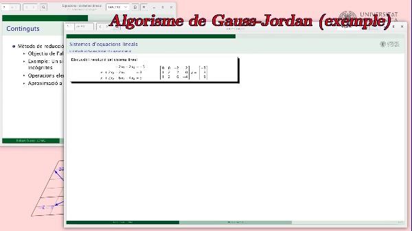 Mètode de reducció de Gauss-Jordan (primera aproximació)