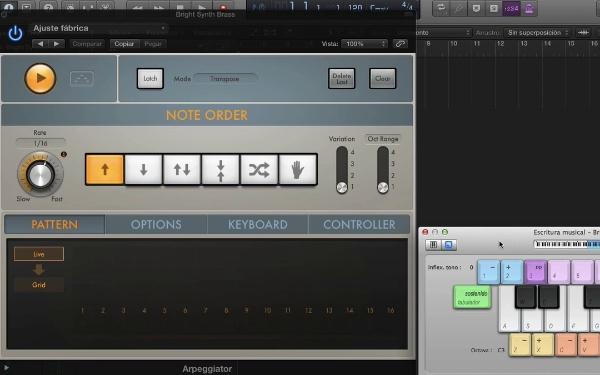 Tutorial Logic Pro X 5.4 Efectos MIDI: Arpeggiator