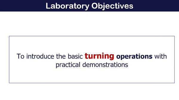 Machining Laboratory nº 1 Turning Operations