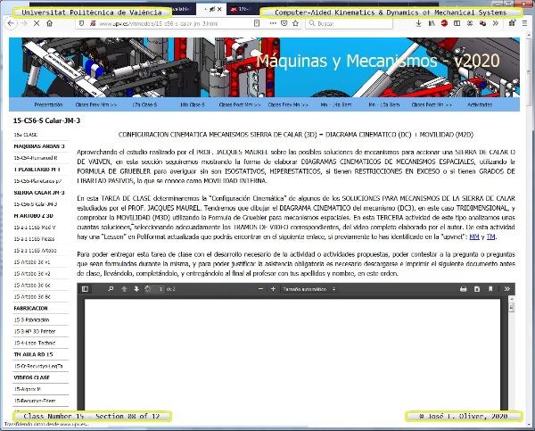 Mecánica y Teoría de Mecanismos ¿ 2020 ¿ MM - Clase 15 ¿ Tramo 08 de 12