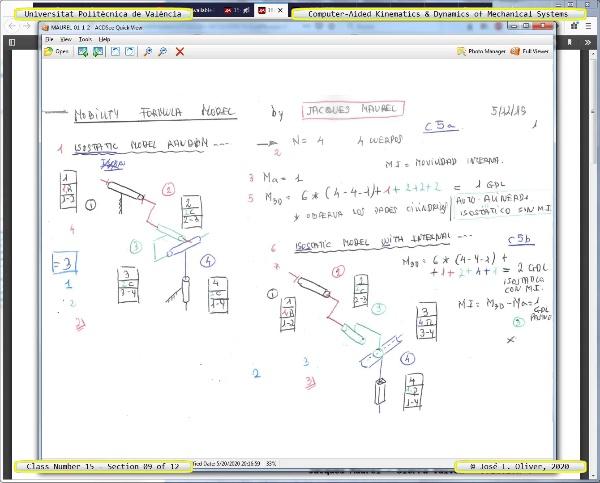 Mecánica y Teoría de Mecanismos ¿ 2020 ¿ MM - Clase 15 ¿ Tramo 09 de 12
