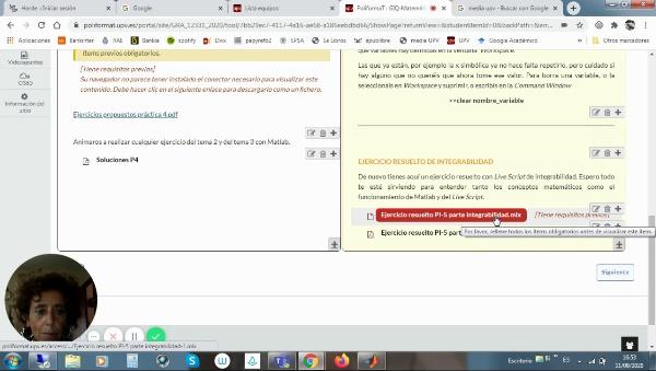 Cálculo de áreas con Live Script de Matlab