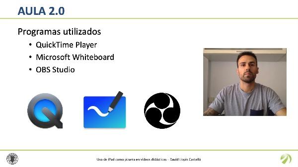 Uso de iPad como pizarra en vídeos didácticos