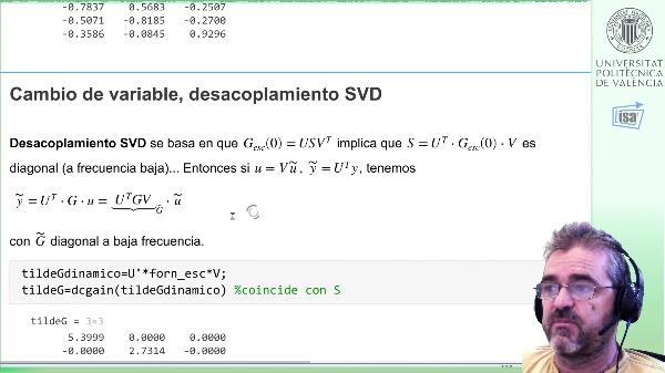 Desacoplamiento SVD de horno lineal: simulación en Simulink, análisis de respuesta