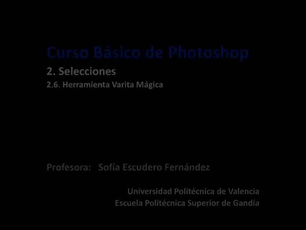Photoshop. Herramienta Varita Mágica