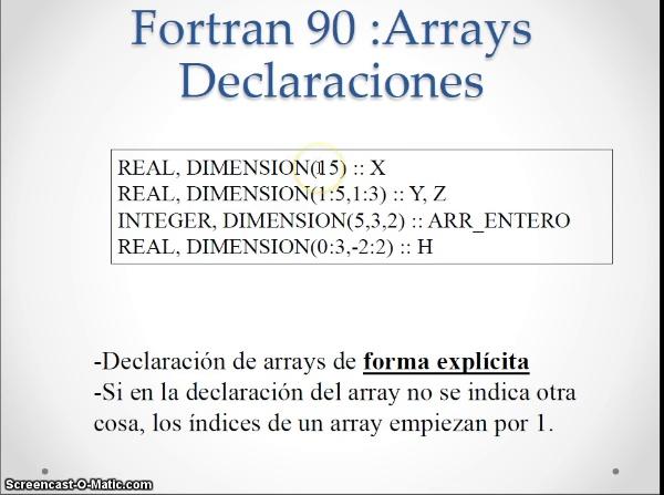Instrucciones matriciales en fortran 90 (2015)