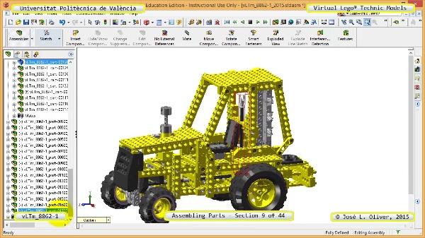 Creación Virtual Modelo Lego Technic 8862-1 ¿ Montaje Modelo ¿ 09 de 44