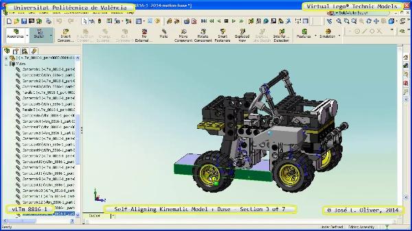Simulación Dinámica Lego Technic 8816-1 sobre Base ¿ 3 de 7