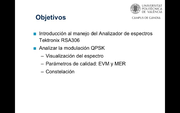 Análisis de modulaciones digitales - Analizador de espectros Tektronix RSA306
