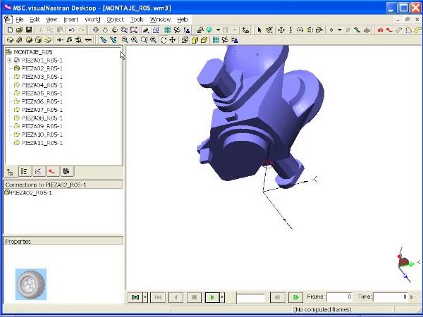 Montaje de robot ABB con MSC Visual Nastran Desktop -Tramo 01 de 07