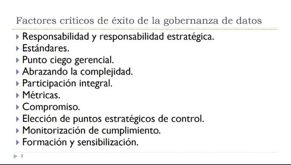 Gobernanza de datos. Objetivos