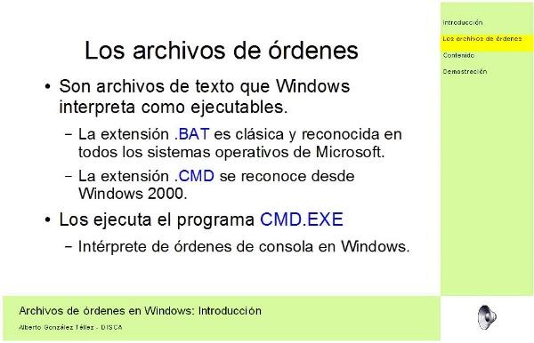 Archivos de órdenes en Windows: Introducción