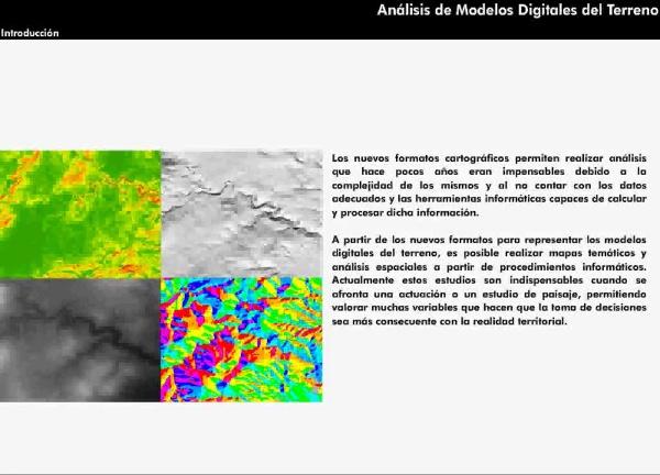 Análisis de Modelos Digitales del Terreno (MDT)