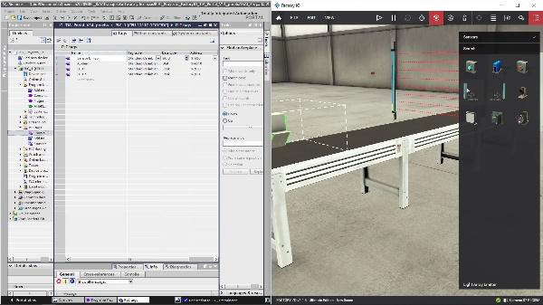 TIA Portal - Factory IO. Uso del Objeto Light Array Emitter