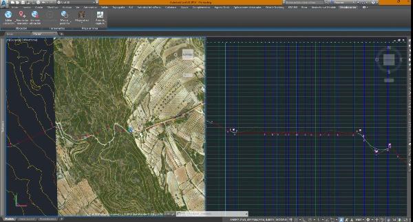 Edición conjunta de planta y alzado en Civil 3D