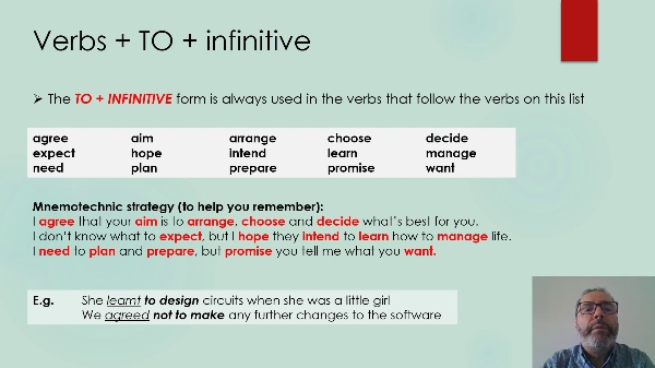 Technical English-VERBS WITH -ING AND INFINITIVE
