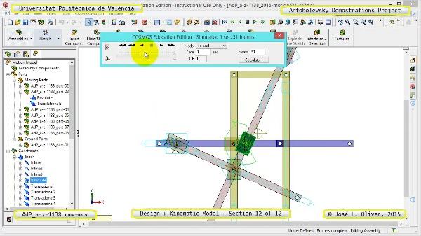 Creación Virtual y Simulación Mecanismo a-z-1138 con Cosmos Motion - 12 de 12