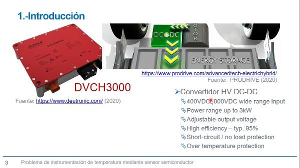 Solución en la instrumentación de temperatura en convertidor DC-DC