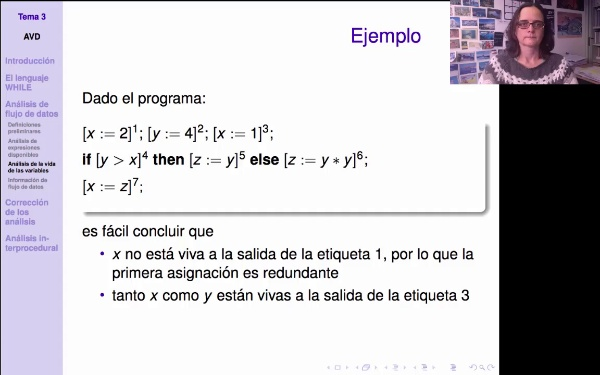 AVD - Ejemplo de análisis de variables vivas