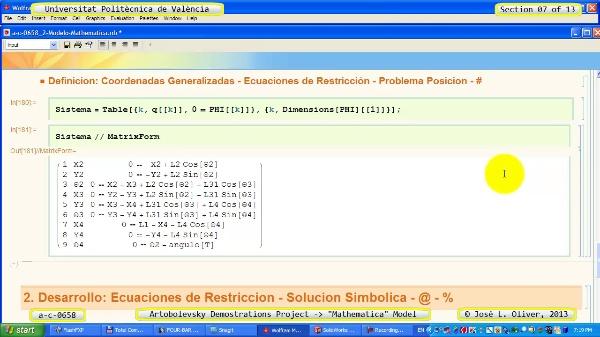 Solución Cinemática Simbólica a_c_0658 con Mathematica -B- 07 de 13