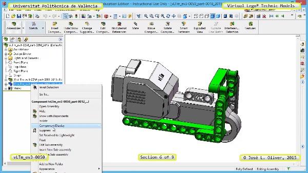 Creación Virtual Modelo Lego Technic - Isogawa ¿ ev3-0050 ¿ 6 de 9
