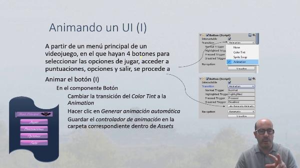 Animando el interfaz de usuario en Unity 3D