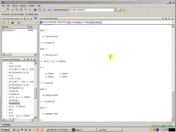 Tema 5. Interpolación polinómica. Sistemas mal condicionados (y 2)