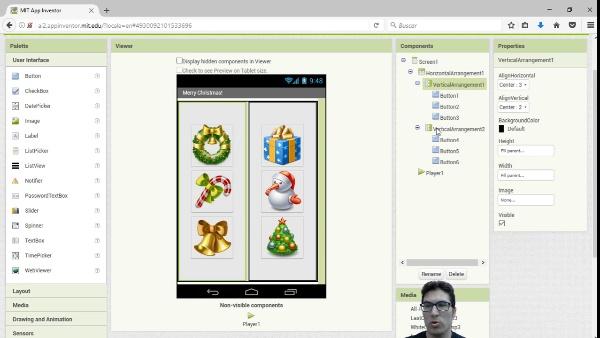 App Inventor2: Llegó la Navidad (Botones y Sonidos)
