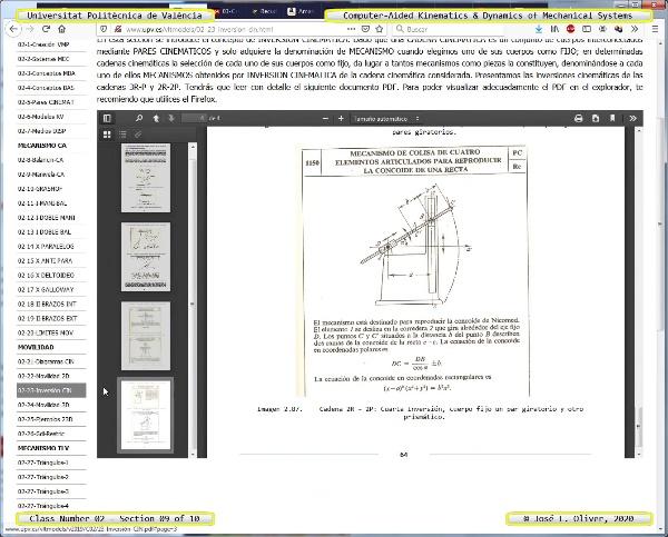Mecánica y Teoría de Mecanismos ¿ 2020 ¿ MM - Clase 02 ¿ Tramo 09 de 10