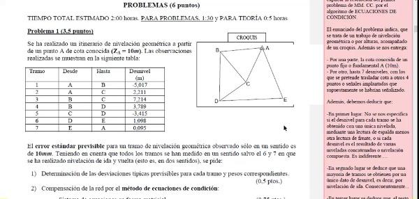 Ajuste de observaciones. Mínimos cuadrados. Ecuaciones de condición. 02_Enunciado y reflexiones de inicio