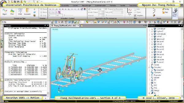 Simulación Cinemática Tang_RailHandCarInv-v8r5 con Recurdyn - RailTa - 4 de 4