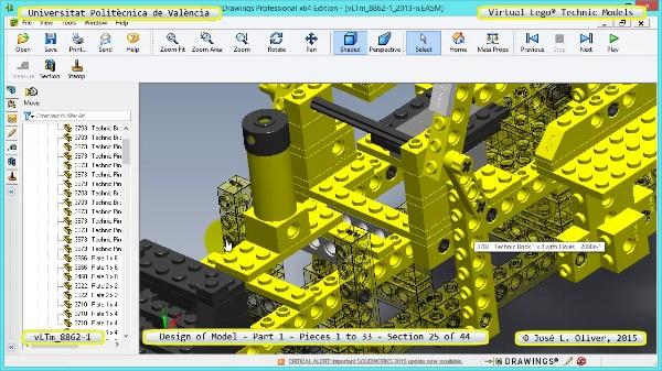 Creación Virtual Modelo Lego Technic 8862-1 ¿ Pieza 1 ¿ 25 de 44