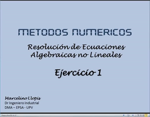 MN-EA-08-08 Resolucion Ecuaciones. Ejercicio 1