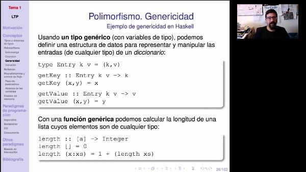 LTP. Tema 1.2.2.2 Polimorfismo paramétrico o genericidad