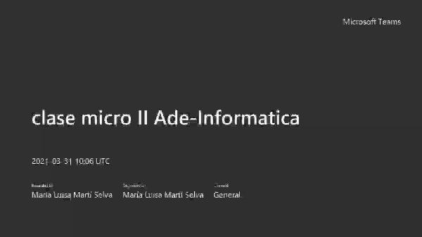 Clase Micro II 31 marzo Ade-informatica