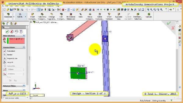 Creación Virtual Mecanismo a-z-1133 con Solidworks - 2 de 3