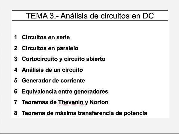 Teoría de Circuitos 1. Lección 3. 3.1 Cortocircuito y circuito abierto