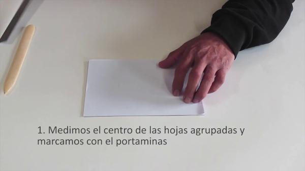 ENCUADERNACIÓN COSTURA TRES PUNTOS