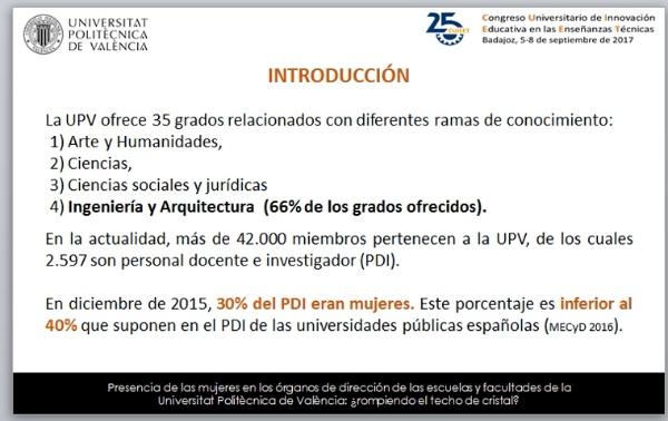 Presencia de las mujeres en los órganos de dirección de las escuelas y facultades de la Universitat Politècnica de València: ¿rompiendo el techo de cristal?