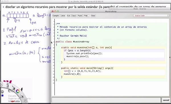 [PRG-OA] Diseño del Algoritmo Recursivo para Mostrar un Array