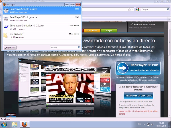 Instalación de RealPlayer en Windows 7