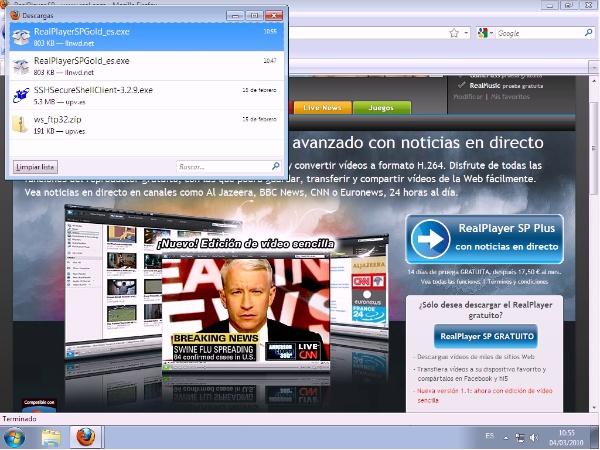 Instalación de RealPlayer en Windows 7