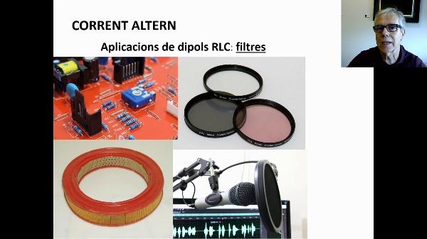 Corrent altern: filtres amb dipol RLC