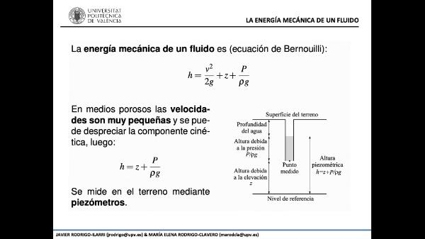 1.- Principios del flujo de agua subterránea - Parte 3 de 3