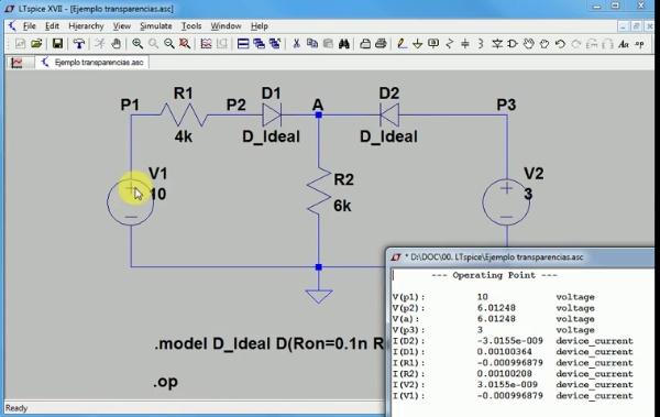 Simulación diodo ideal